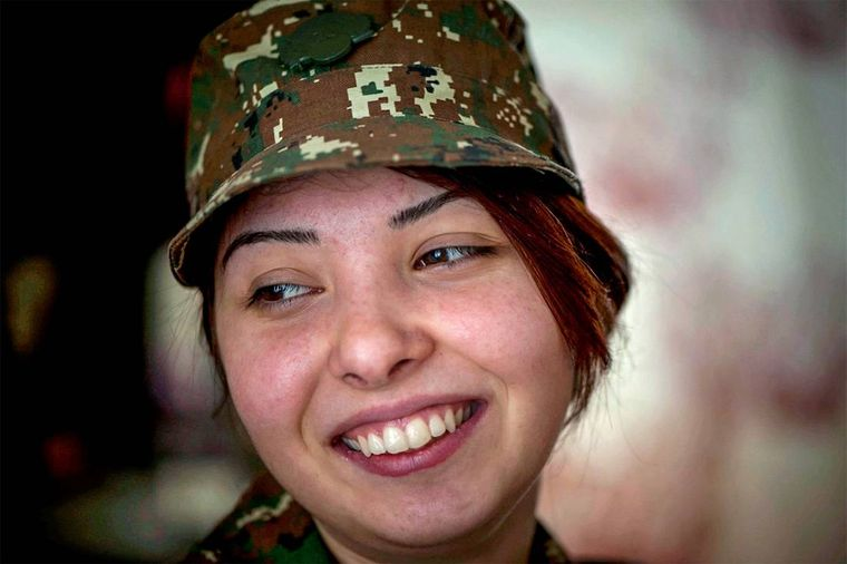 Наринэ пошла добровольцем на фронт, когда началась апрельская война в 2016-м.
