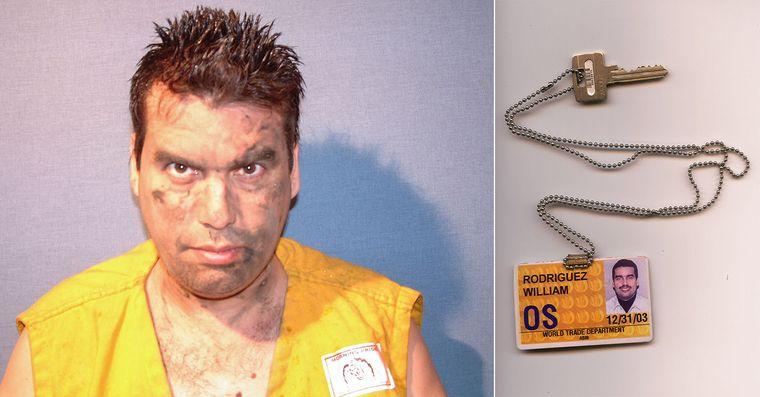 Вільям Родрігес в день теракту та ключі, якими він відкрив двері для порятунку сотен людей, 11 вересня 2001 року
