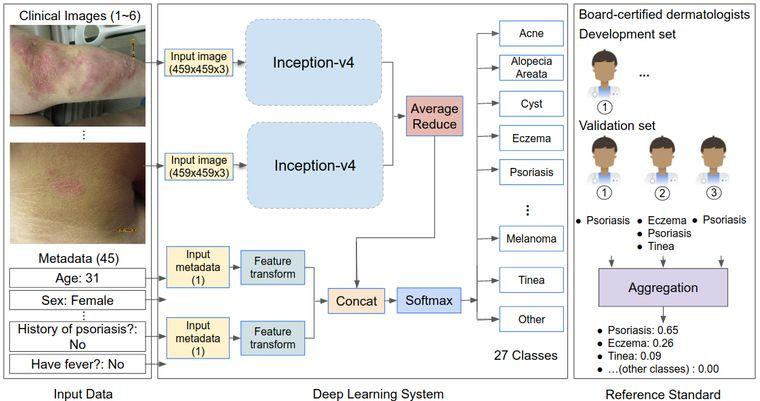 Схема роботи алгоритму з діагностики хвороб