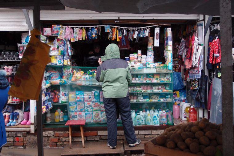 На рынке в Ясиноватой, Донецкая область