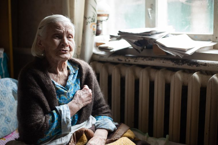 Галина Василівна — найстарша мешканка села Медведівка, вона пережила Голодомор, Черкаська область, 18 листопада 2019 року
