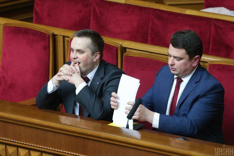 Керівник САП Назар Холодницький (ліворуч) та директор НАБУ Артем Ситник на засіданні Ради, Київ, 4 квітня 2018 року