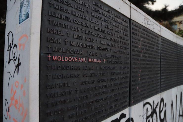 Площа Революції. Список жертв Румунської революції 1989 року