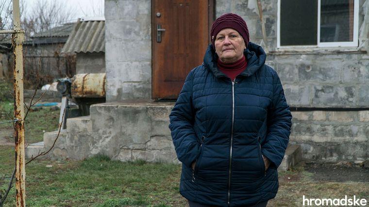 Місцева активістка Галина Барбашова виступає за розведення військ, а ще кілька років тому вона була протилежної думки, Луганська область, 27 листопада 2019 року