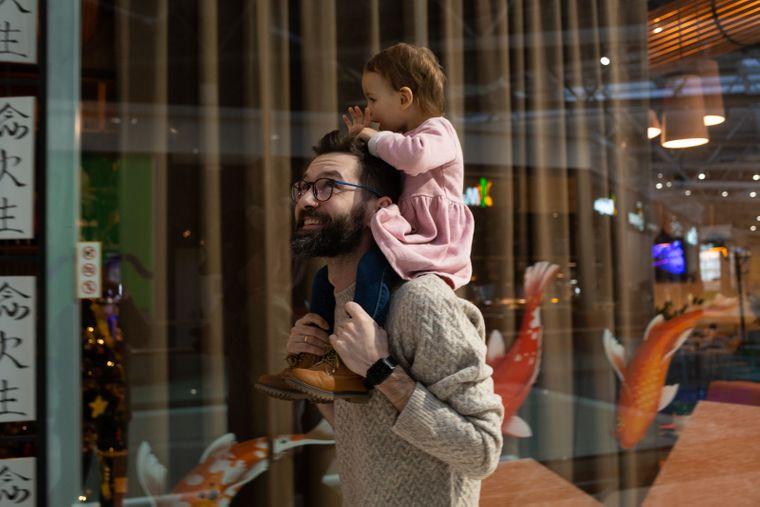 Дмитрий с дочерью Машей, Киев, 16 января 2020 года