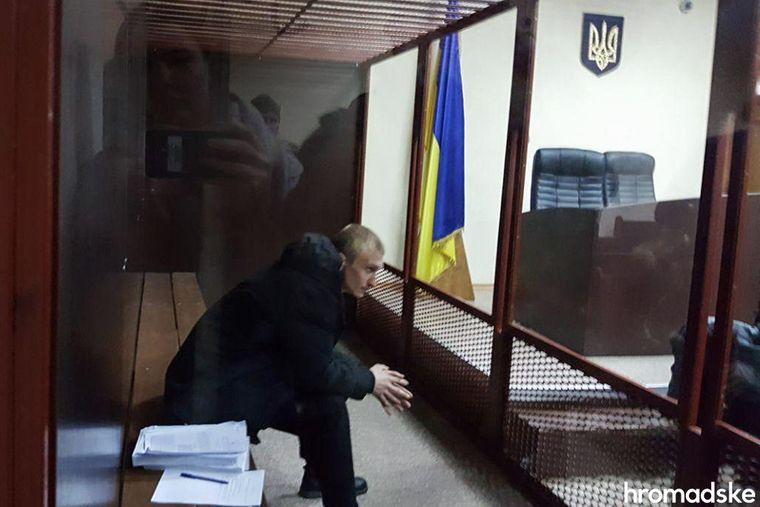 Колишній боєць спецпідрозділу внутрішніх військ МВС України «Омега» Володимир Косенко у суді, 19 лютого 2020 року