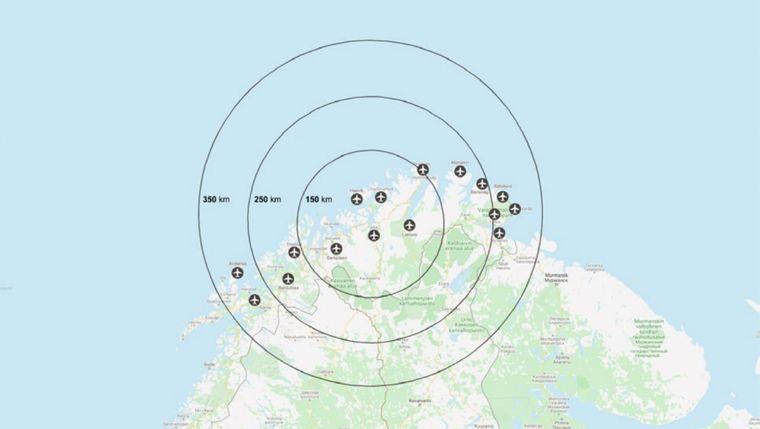 16 аеропортів на півночі Норвегії