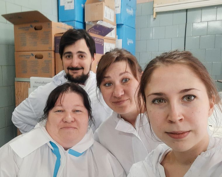 Катерина з колегами в лікарні
