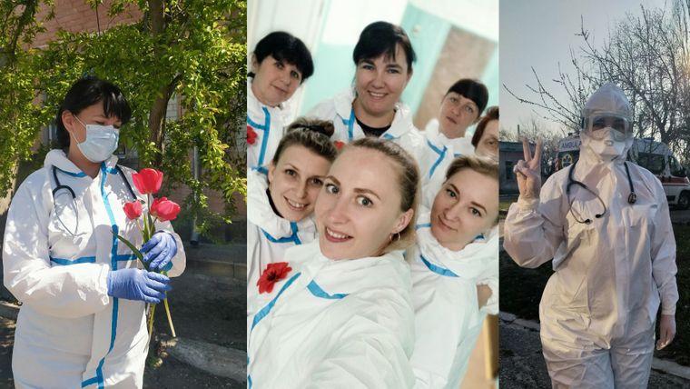 Ольга з коліжанками в День пам'яті та примирення додали червоні маки до «ансамблю» захисного одягу