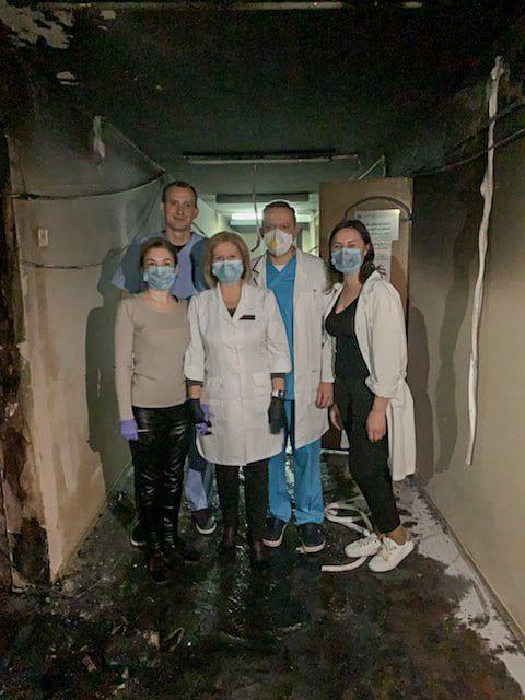 В Олександрівській лікарні сталася пожежа