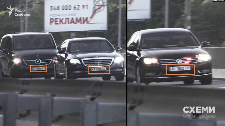 Спецномери на автівках з кортежу президента