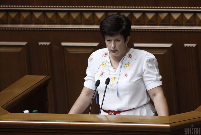 Уполномоченная Верховной Рады Украины по правам человека Валерия Лутковская во время пленарного заседания Верховной Рады в Киеве, 5 июня 2013 года