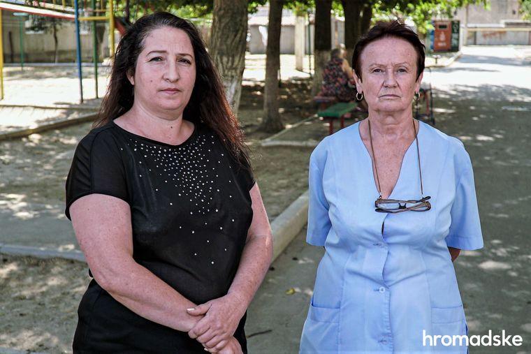 Воспитательница и медсестра Измаильского специализированного дома ребенка Елена Щука и Елена Бирка