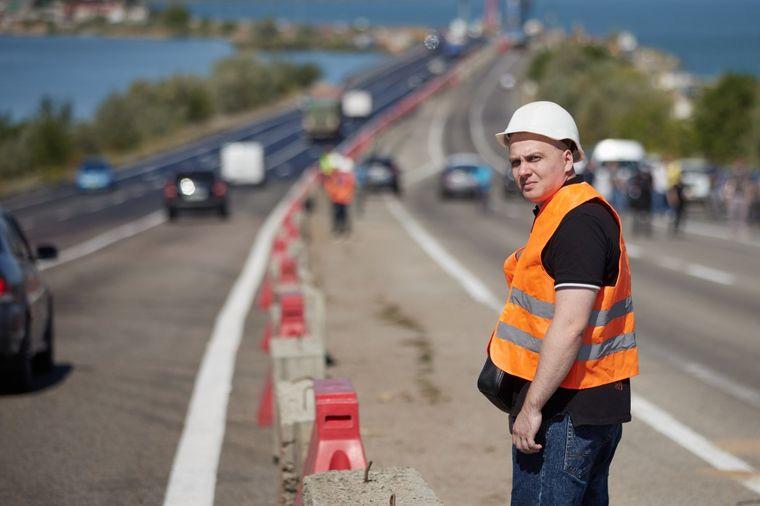 Ремонт дороги в Одеській області.