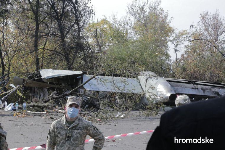Место крушения военного самолета Ан-76, Харьковская область, 26 сентября 2020 года. Погибли 26 человек, одному удалось выжить