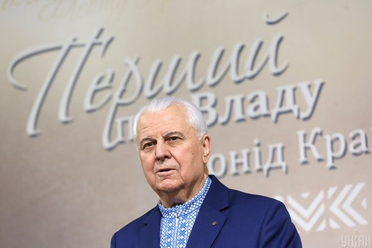 Екс-президент України Леонід Кравчук під час презентації своєї книги «Перший про владу»
