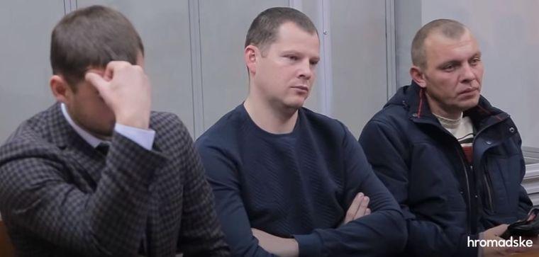 Екссуддя Печерського районного суду Києва Оксана Царевич з адвокатом під час засідання суду, Київ, 12 квітня 2016 року