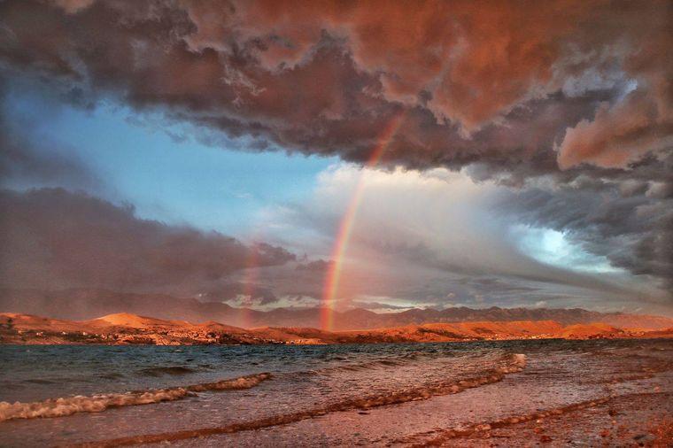 «Веселка після шторму». Острів Паг, Хорватія