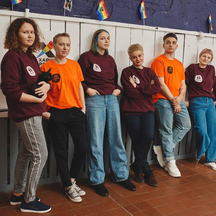 Учасники харківського ЛГБТ-центру «ПрайдХаб»