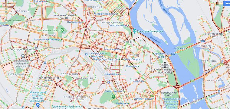Ситуація на дорогах у Києві станом на 9:00
