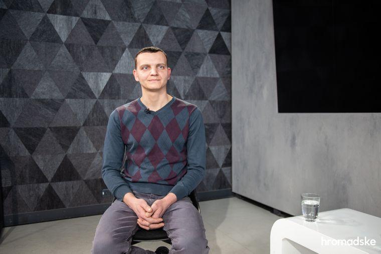 Віктор Шарій у студії hromadske
