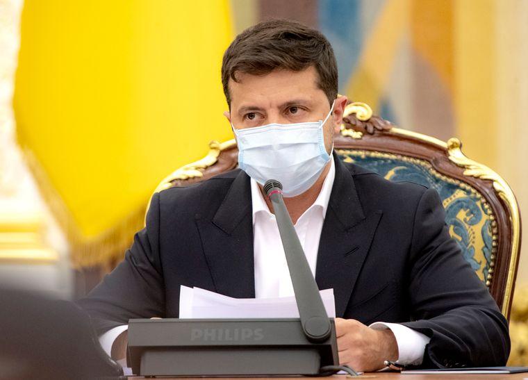 Президент України Володимир Зеленський під час засідання РНБО