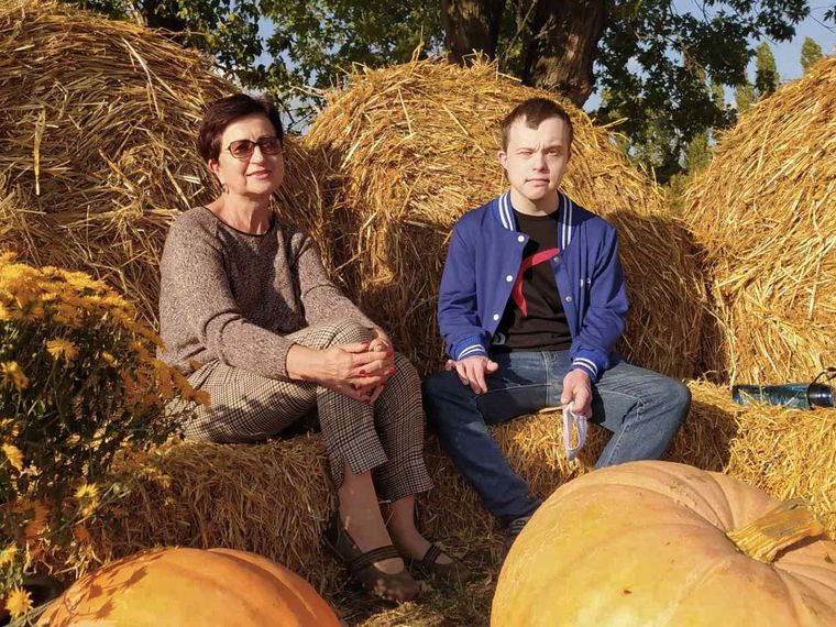 Богдан Кравчук разом із мамою Євгенією Кінах