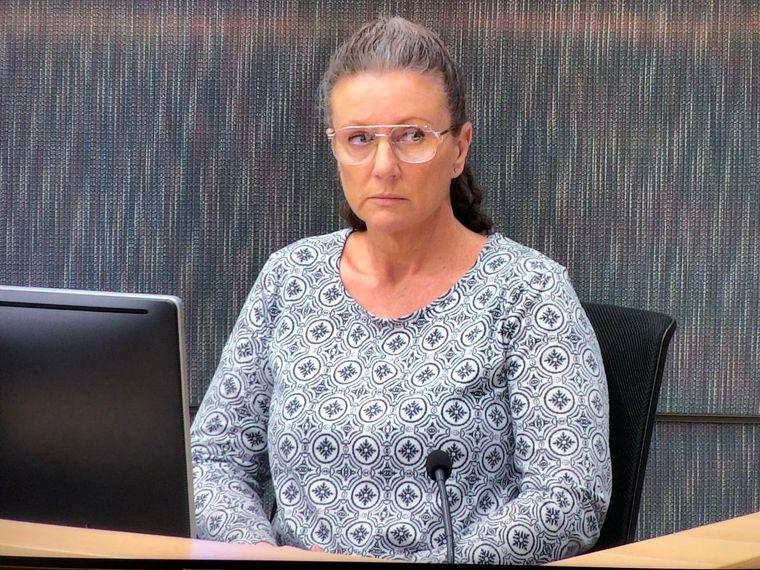 Кетлін Фольбіґ під час розгляду апеляції у своїй справі. 2019 рік