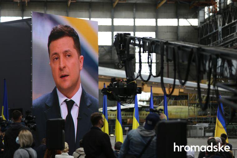 Президент Володимир Зеленький під час пресконференції 20 травня 2021 року