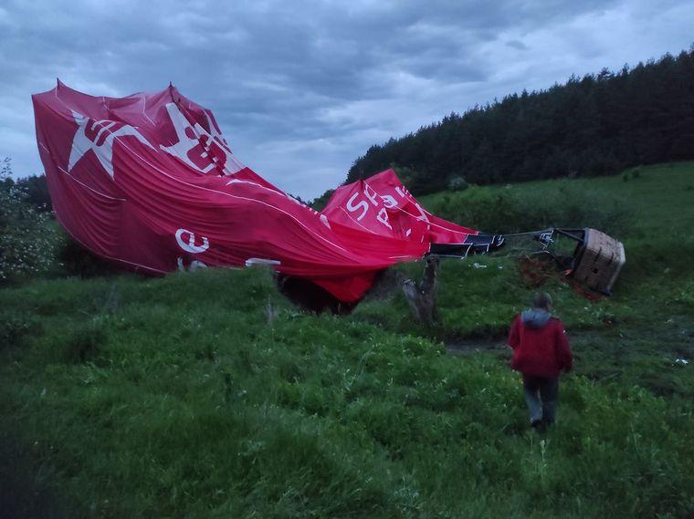 Воздушный шар, упавший в Хмельницкой области