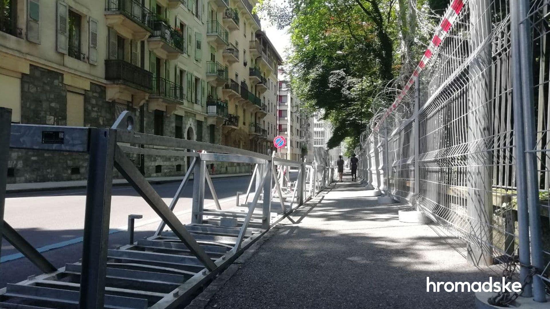 Перекрытые улицы иколючая проволока. Женева готовится ксаммиту Путина иБайдена