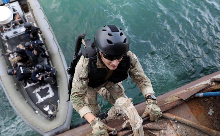 Грузинські військові відпрацьовують навчання на «Сі Бриз — 2021»