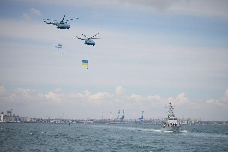 Святкування дня ВМС України в Одесі під час навчань «Сі Бриз — 2021»