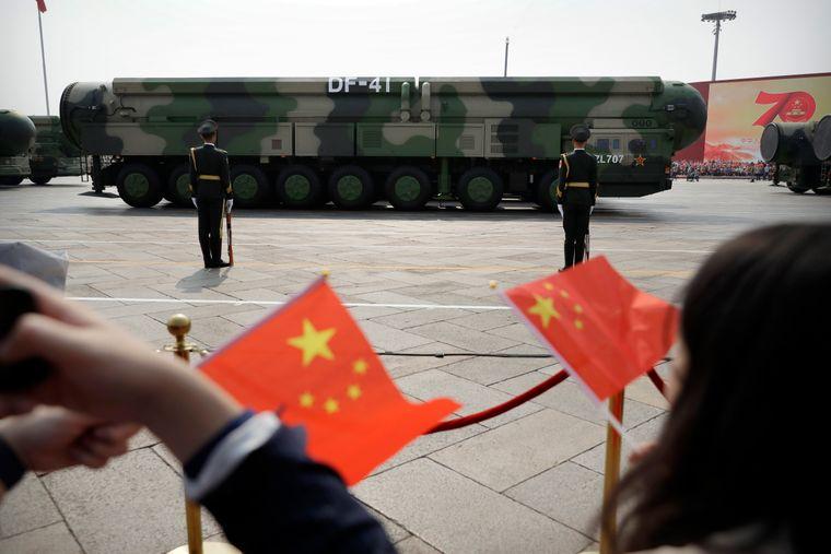 Китайские баллистические ракеты DF-41 во время парада, посвященного 70-летию Коммунистической партии Китая, Пекин, 1 октября 2019 года