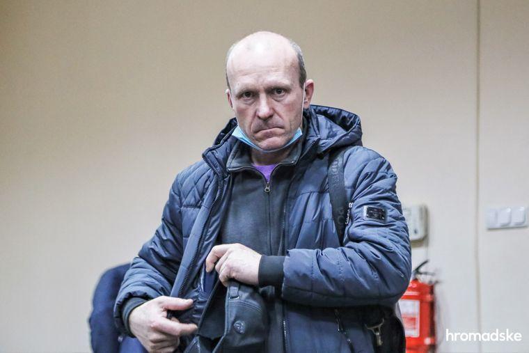 Подозреваемый руководитель полетов Александр Жук в Печерском суде Киева, 22 декабря 2020 года
