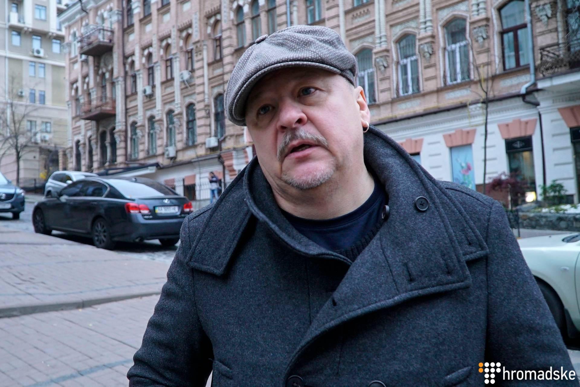 Драматург, режисер Білоруського вільного театру Микола Халєзін під час прогулянки Києвом, 6 листопада 2018 року