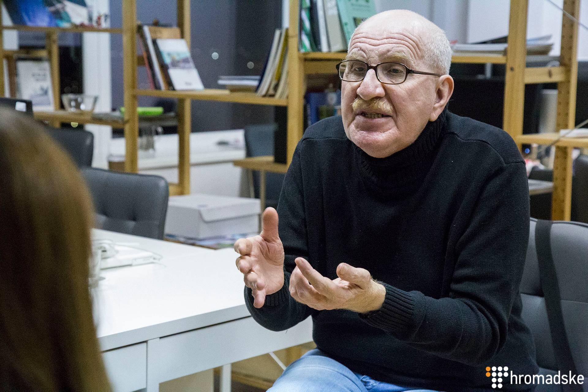 Кінознавець і дослідник радянського кіно Євген Марголіт під час інтерв'ю, Київ, 16 листопада 2018 року