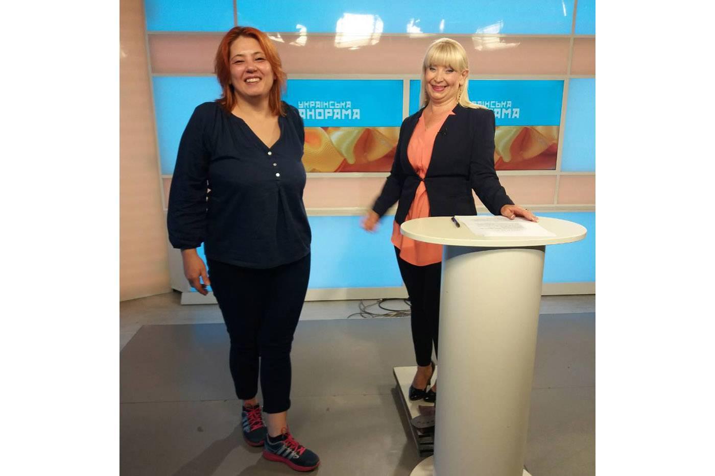 Мария Виславски (справа) работает ведущей на местном телевидении в Новом Саде и украинской рассказывает о событиях, касающихся украинской общины в Сербии
