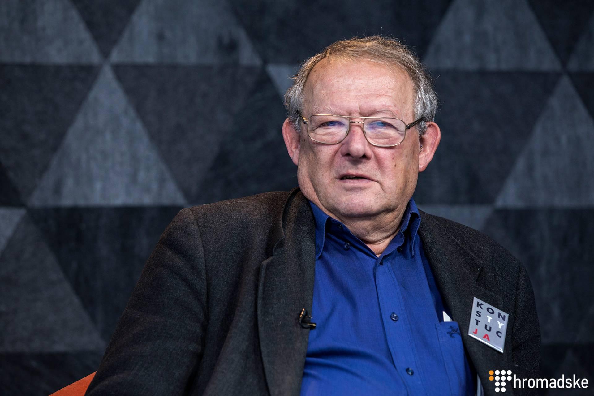 Головний редактор «Газети виборчої» Адам Міхнік у студії Громадського, Київ, 24 листопада 2018 року