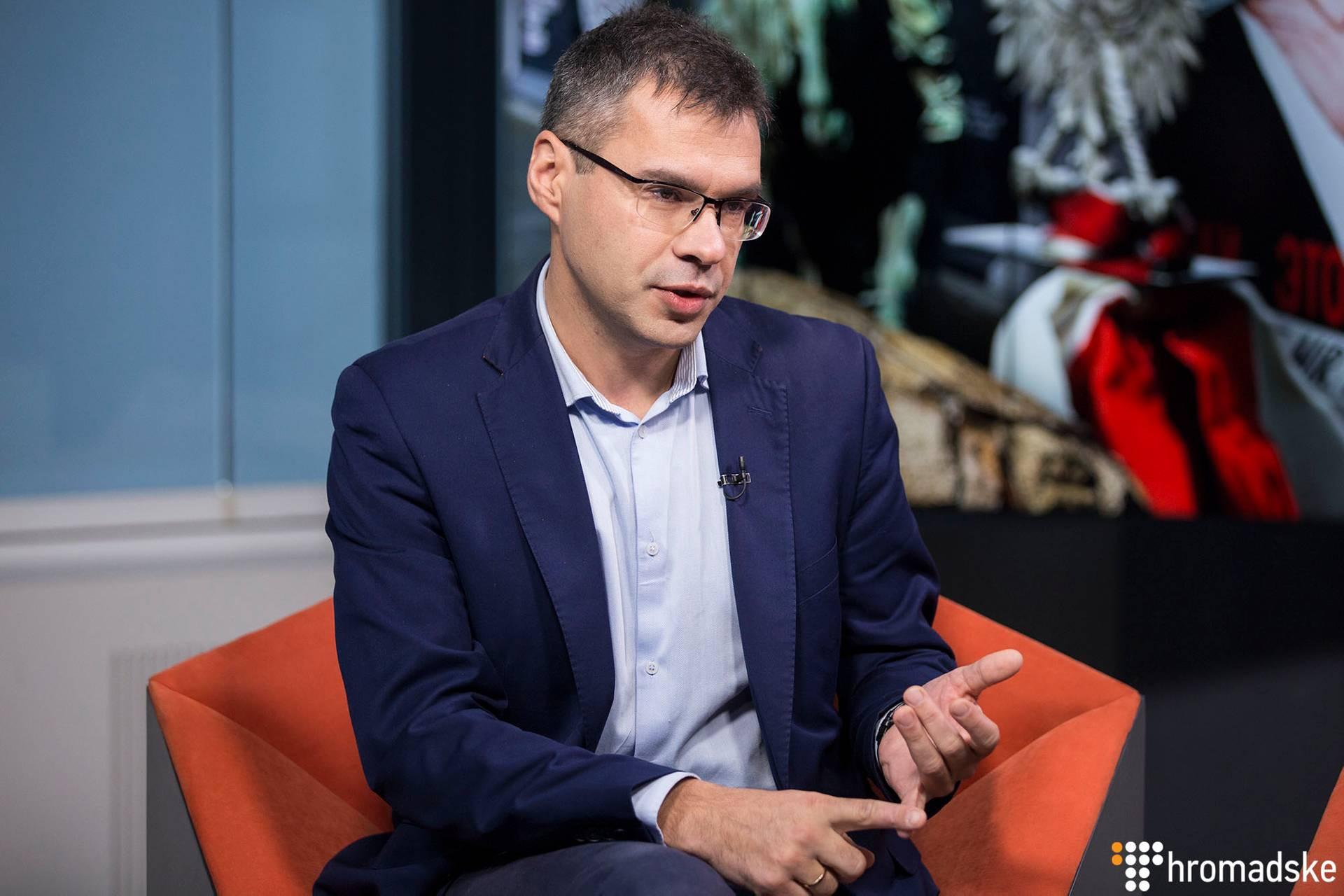 Коментатор польського тижневика «W Sieci» Міхал Карновскі у студії Громадського, Київ, 14 листопада 2018 року
