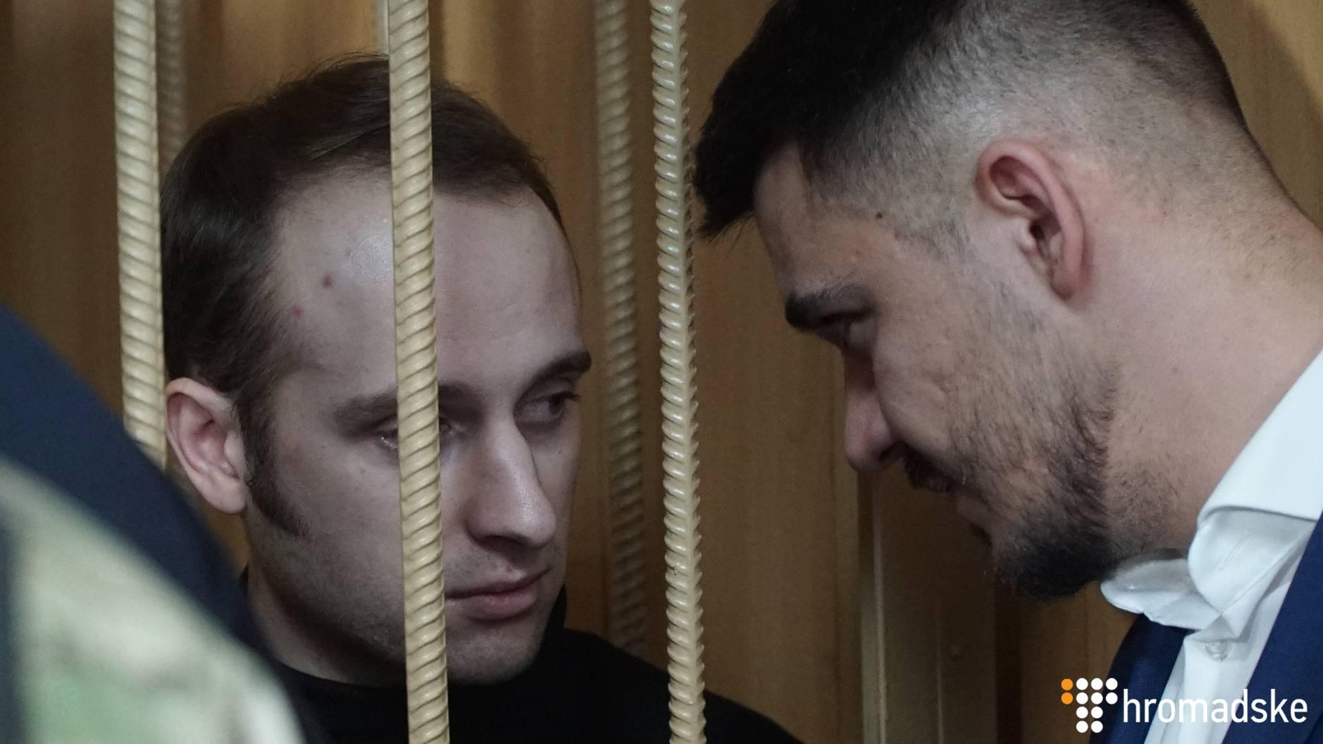 Український полонений моряк Владислав Костишин у Лефортовському суді Москви, 15 січня 2018 року