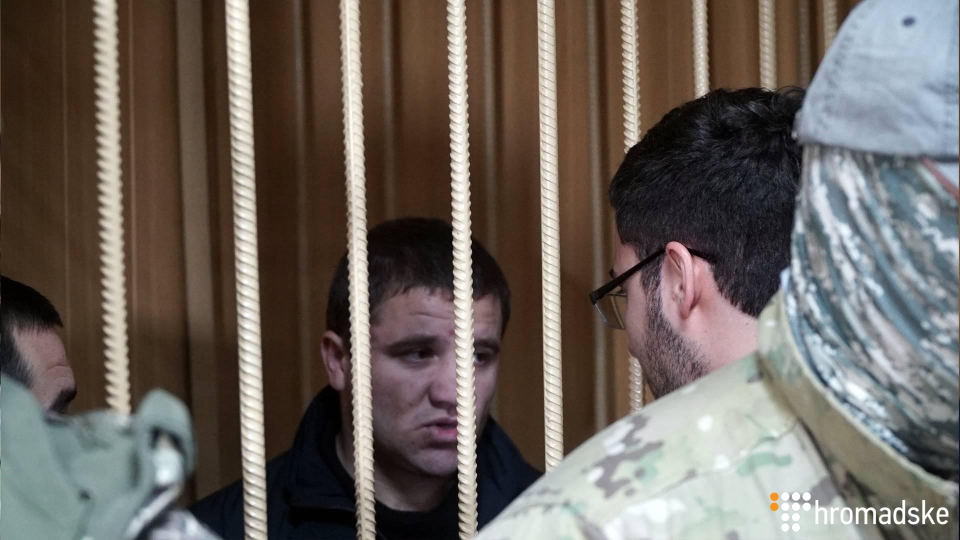 Український полонений моряк Володимир Варимез у Лефортовському суді Москви, 15 січня 2018 року