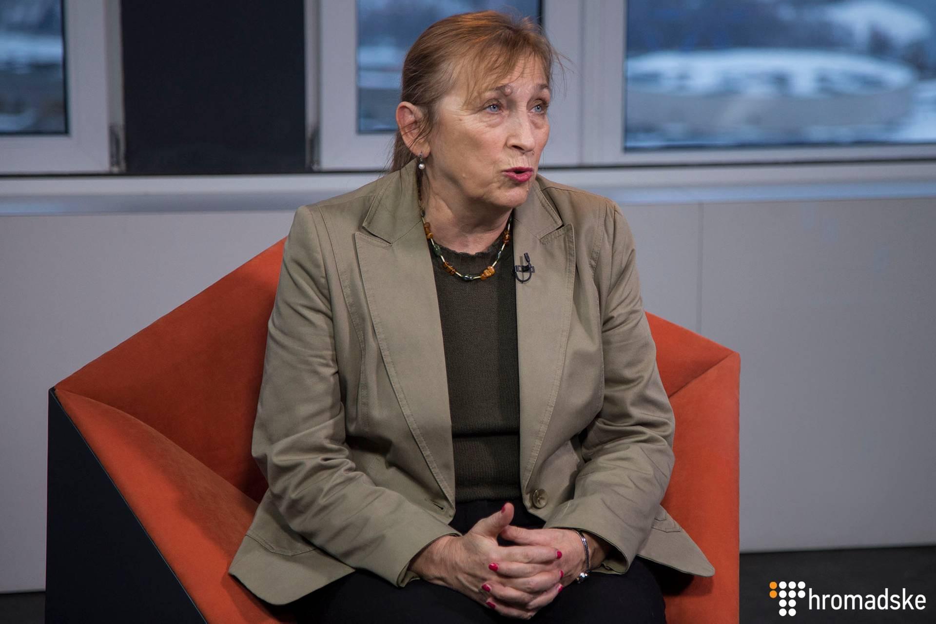 Директорка Фонду «Демократичні ініціативи» Ірина Бекешкіна в студії Громадського, Київ, 17 січня 2019 року