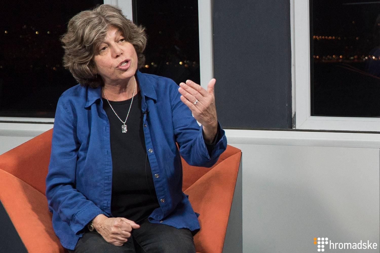 Американська правозахисниця, заступниця директора Human Rights Campaign Global Джин Фрідберг у студії Громадського, Київ, 25 січня 2019 року