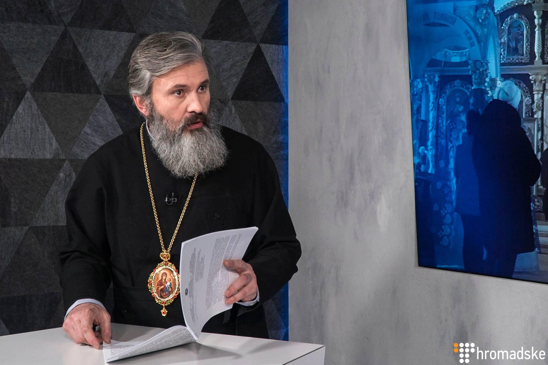 Архієпископ Сімферопольський і Кримський Православної церкви України Климент у студії Громдаського, Київ, 12 лютого 2019 року