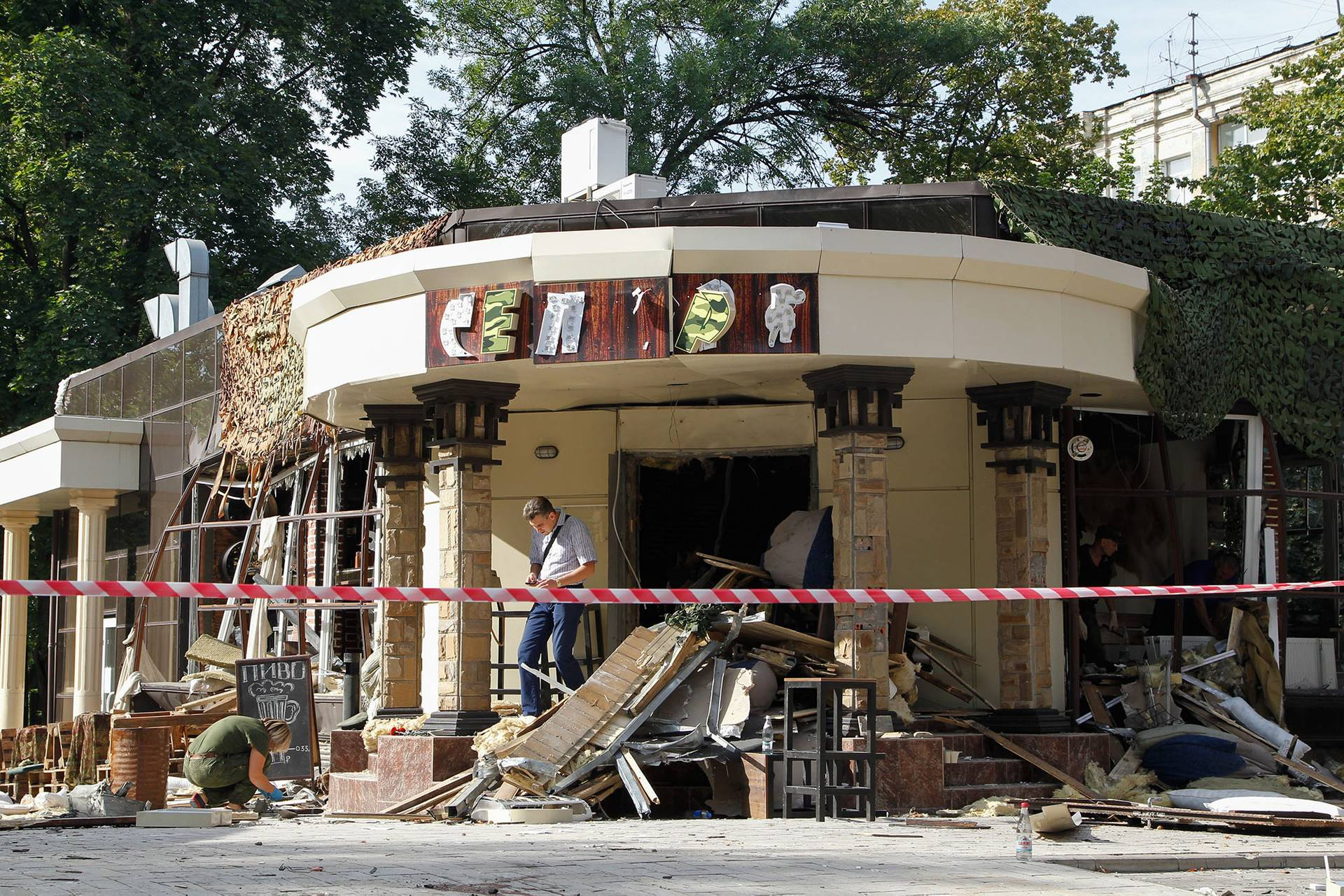 В центрі окупованого Донецька 31 серпня у ресторані «Сепар» підірвали ватажка самоназваної «ДНР» Олександра Захарченка, 1 вересня 2018 року