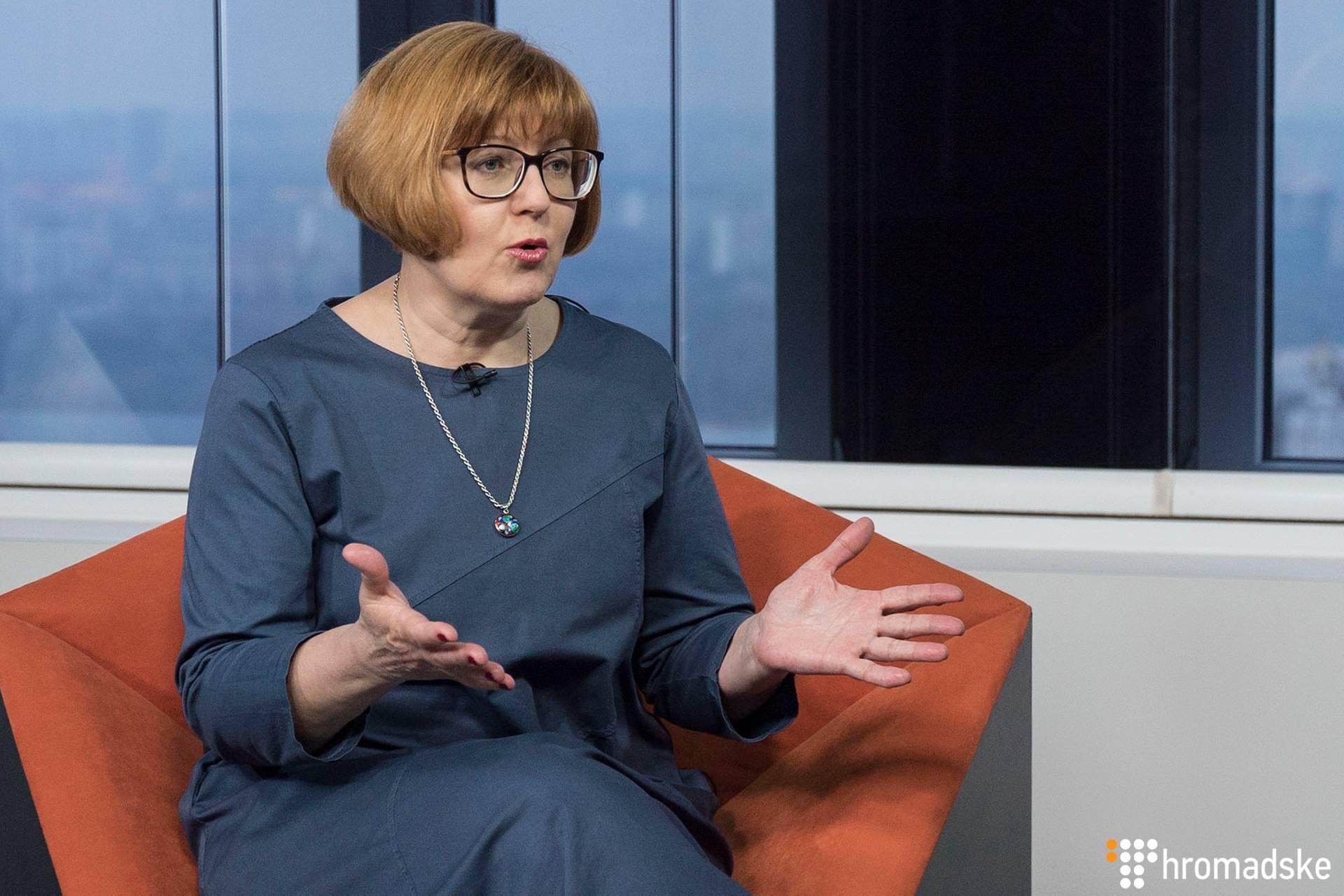Головна редакторка Центру журналістських розслідувань Валентина Самар у студії Громадського, Київ, 24 лютого 2019 року
