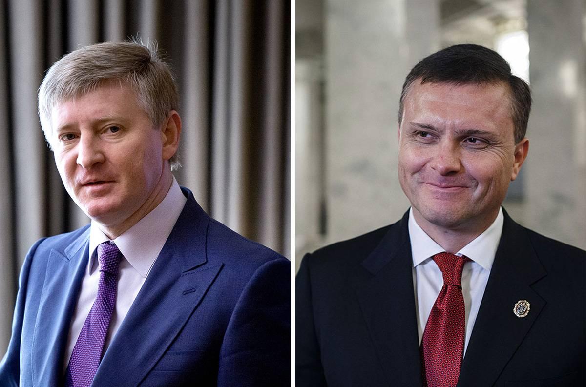 Бізнесмен Рінат Ахметов (ліворуч) та народний депутат України Сергій Льовочкін