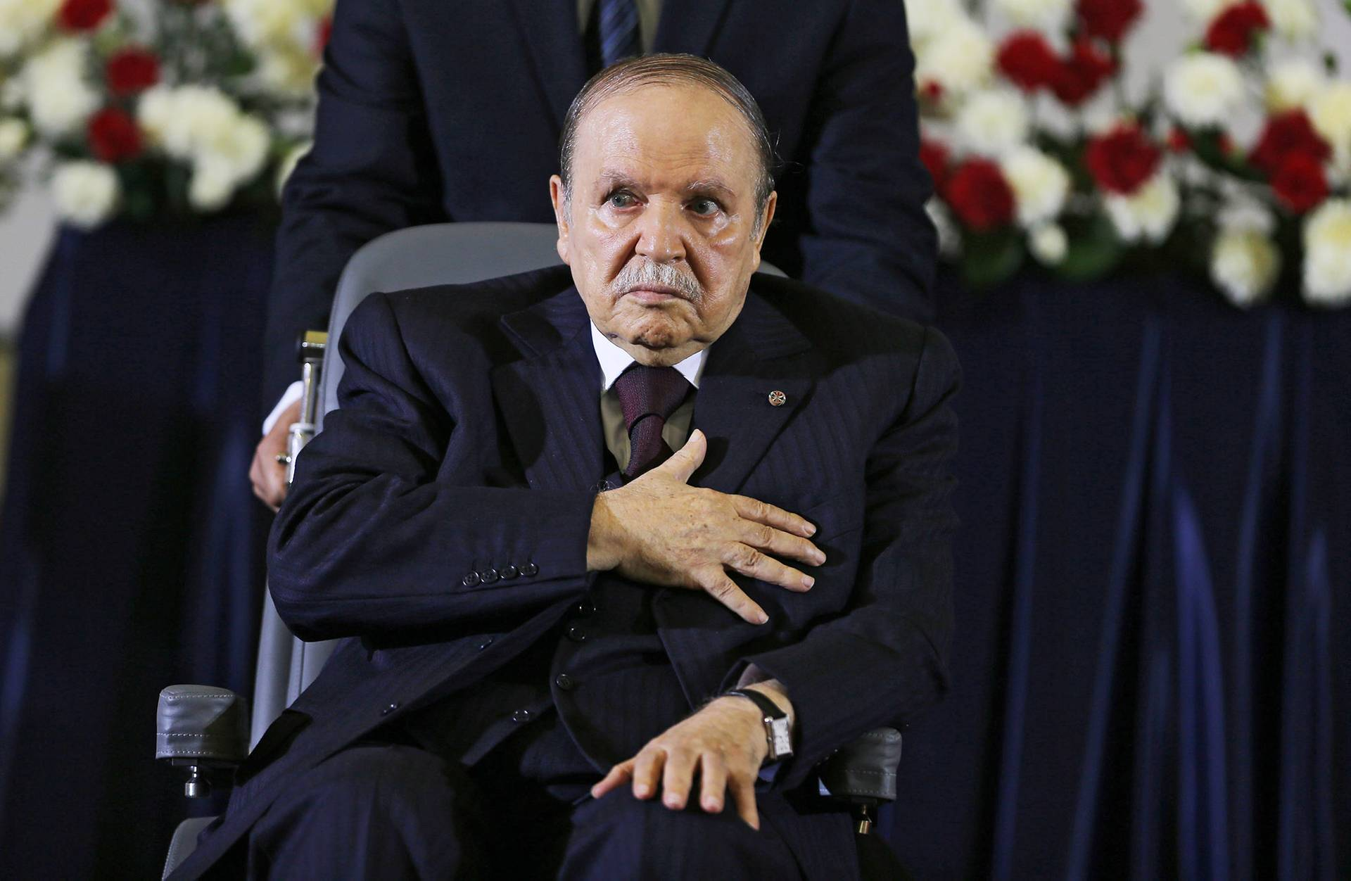 Президент Алжиру Абдельазіз Бутефліка під час його інавгурації на четвертий президентський термін, Алжир, Алжир, 28 квітня 2014 року