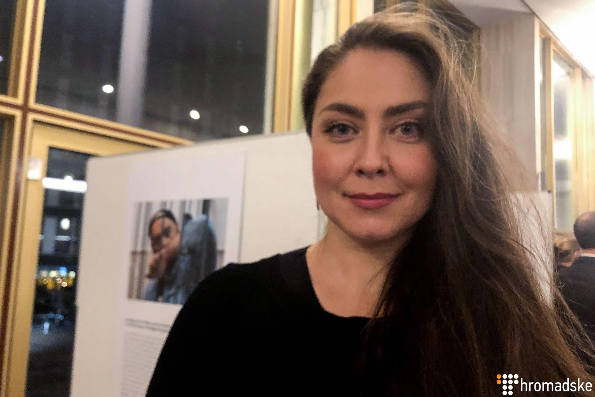 Українська оперна співачка, виконавиця партії Абігайл в опері «Набукко» Оксана Дика після прем'єри у Гамбурзі, Німеччина, 10 березня 2019 року
